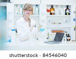 portrait of a female researcher ... | Shutterstock . vector #84546040