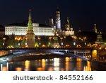 a big stone bridge across the... | Shutterstock . vector #84552166