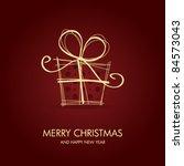 christmas card | Shutterstock .eps vector #84573043