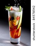 Cocktail Pimm's Cup Isolated
