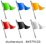 set of little color triangle... | Shutterstock .eps vector #84579133
