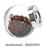 Peas Pepper In A Glass Jar...