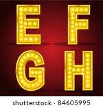 set alphabet design with lamps   Shutterstock .eps vector #84605995