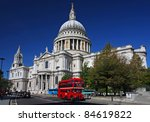 St. Paul's Cathedral And Red...