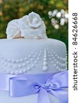 details on a wedding cake with... | Shutterstock . vector #84626668