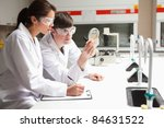 concentrate students in science ... | Shutterstock . vector #84631522