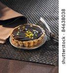 chocolate and postachio tartlet | Shutterstock . vector #84638038