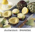emptying the artichoke bases | Shutterstock . vector #84646066