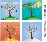 four seasons | Shutterstock .eps vector #84650593