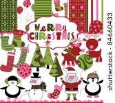 cute christmas scrapbook   Shutterstock .eps vector #84660433