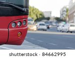 a parked bus  while traveling... | Shutterstock . vector #84662995