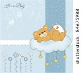 New Baby Shower Card With...