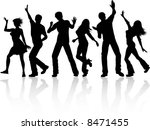 people dancing | Shutterstock .eps vector #8471455