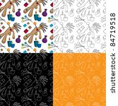 a seamless doodle pattern with... | Shutterstock .eps vector #84719518