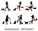 witches | Shutterstock .eps vector #84726547