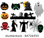 halloween elements | Shutterstock .eps vector #84726553
