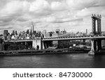 manhattan bridge and empire... | Shutterstock . vector #84730000