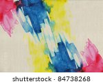 abstract primary watercolor on... | Shutterstock . vector #84738268