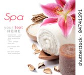 spa setting in brown tone | Shutterstock . vector #84741391