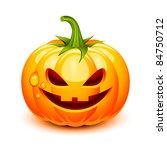 halloween pumpkin face in a...