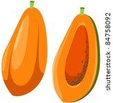 illustration of isolated papaya ... | Shutterstock .eps vector #84758092