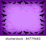 bat frame   bat silhouette on... | Shutterstock .eps vector #84779683