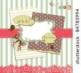 cute scrapbook elements | Shutterstock .eps vector #84783994