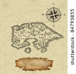 old pirate map | Shutterstock . vector #84793855