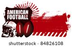 american football shield with... | Shutterstock .eps vector #84826108