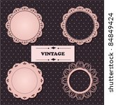 Vintage lace frames. - stock vector