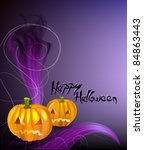 happy halloween | Shutterstock .eps vector #84863443