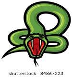 snake   Shutterstock .eps vector #84867223