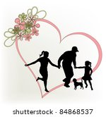 family and heart | Shutterstock . vector #84868537