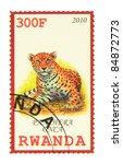 rwanda   circa 2010  a stamp...   Shutterstock . vector #84872773