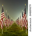 Flags Set In A Row As Part Of...