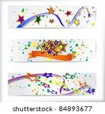 set of the 160x600 abstract...   Shutterstock .eps vector #84893677