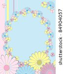 card greeting with floral frame | Shutterstock .eps vector #84904057