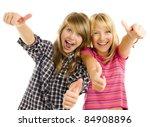 Portrait Of Happy Teen Girls...