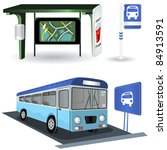 vector bus station images | Shutterstock .eps vector #84913591