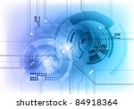 tech background in the blue | Shutterstock .eps vector #84918364