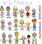 doodle members of large families   Shutterstock .eps vector #84923014