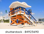 Colorful Lifeguard Hut In...