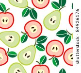 simple seamless apples and... | Shutterstock .eps vector #84926176