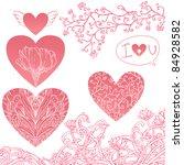 romantic elements set  hearts