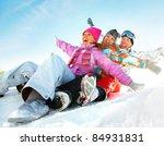 Group Of  Teenagers Slide...