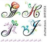 alphabets elements design   ...