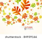 fall leaves abstract background | Shutterstock .eps vector #84939166