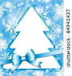 xmas blue frame with christmas... | Shutterstock .eps vector #84941437