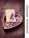 natural soap and bowl of... | Shutterstock . vector #84943027