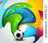 vector football artistic... | Shutterstock .eps vector #84976117
